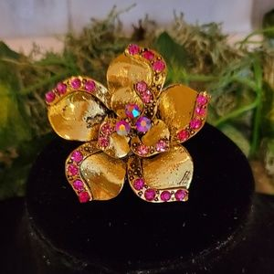 Gold Color Alloy Flower Ring